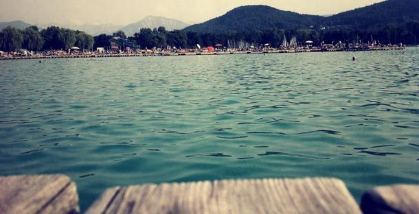 Sommerstimmung im Klagenfurter Strandbad im Juli 2012