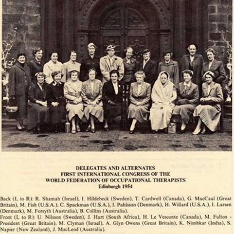 Gruppenbild WFOT Kongress 1954