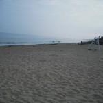 Strand in Rhode Island bei Schlechtwetter