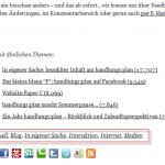 Screenshot der Schlagwörter am Artikelende