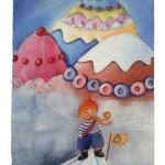 Bildkarte aus Dixit mit Bergen von Süßigkeiten