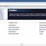 Screenshot der Website von PubMed