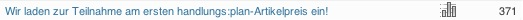 Screenshot der Artikelaufrufe des 1. handlungs:plan-Artikelpreises