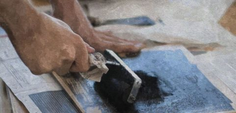 Linolschnitt als ergotherapeutisches Mittel